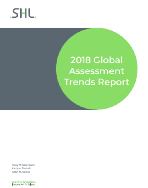 2018 Global Assessment Trends Report Cover
