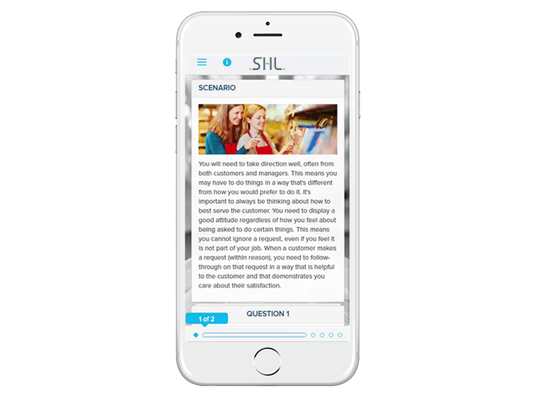 Mobile-Optimized Realistic Job Preview Found in SHL PreciseFit