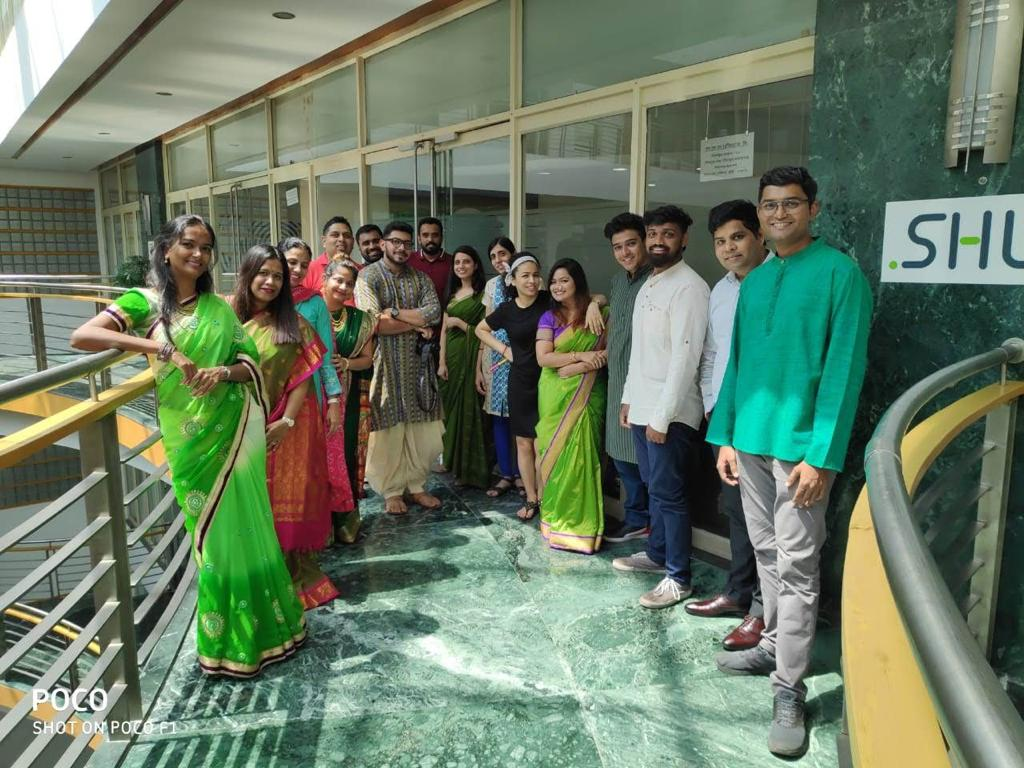 Diwali celebrations in one of our offices in India last year