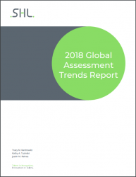 Download the report for 12 key findings focused around three areas:    The changing nature of work and related implications for organizational strategy and talent management  The increasing importance of talent data in the future  The current and planned usage of talent assessment tools